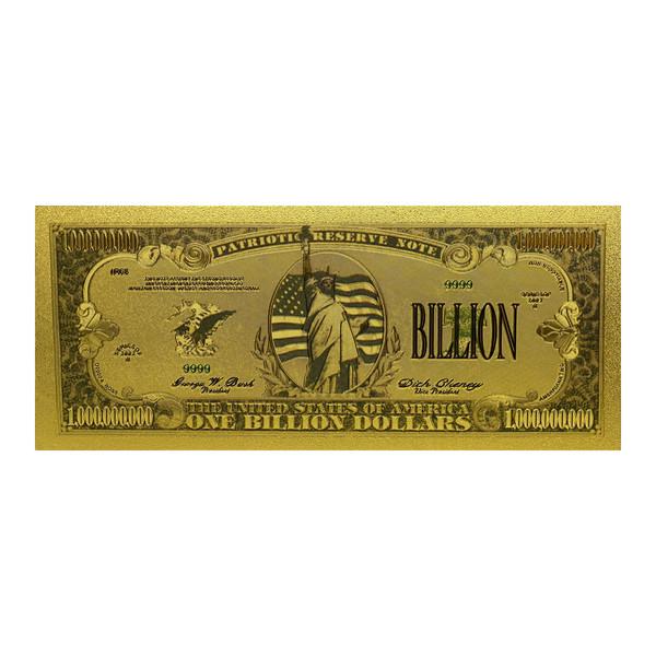 اسکناس تزیینی طرح یک بیلیون دلار