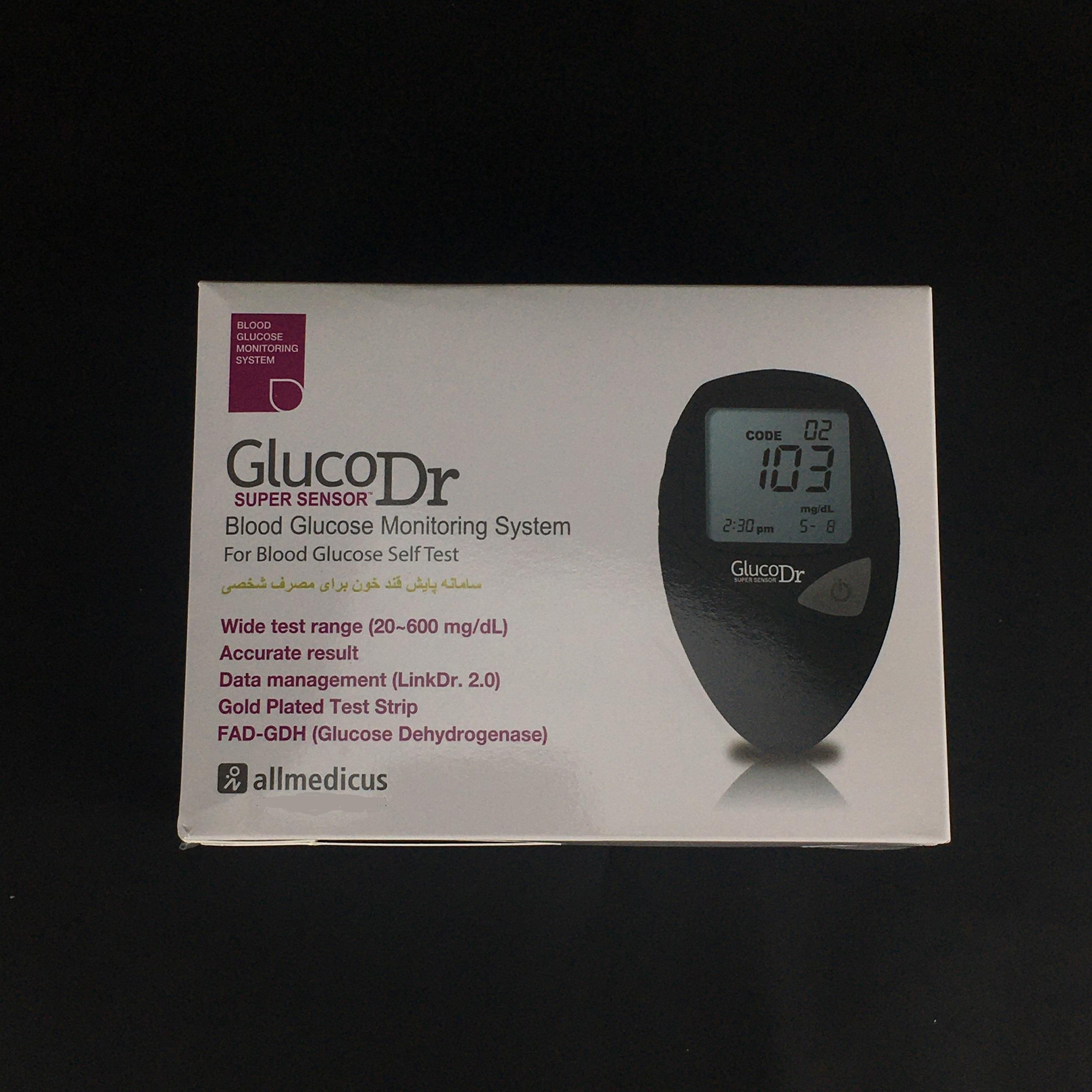 دستگاه تست قند خون گلوکو داکتر مدل سوپر سنسور کد i10