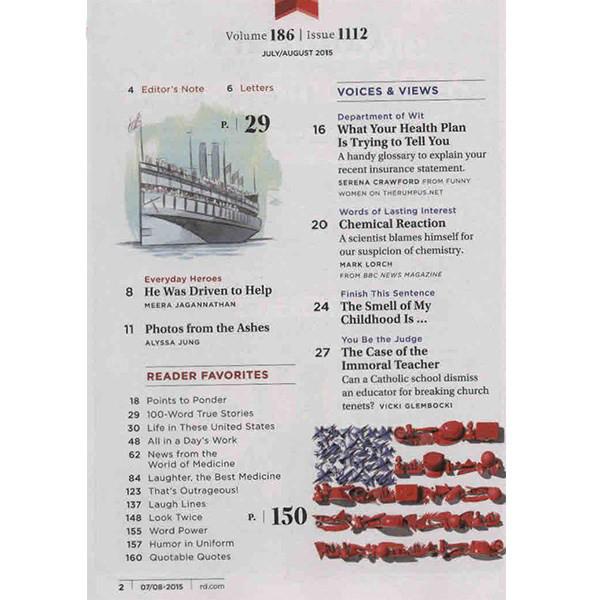 مجله ریدرز دایجست - جولای  2015