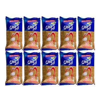 تصویر نمک خوراکی ید دار 100% تصفیه شده و تبلور مجدد آریامن - 800 گرم مجموعه 10 عددی