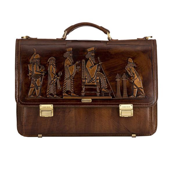 کیف اداری مردانه چرم نگار مدل هخامنشی کد 601112
