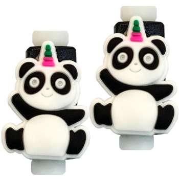 تصویر محافظ کابل مدل Cute Panda 02 بسته 2 عددی
