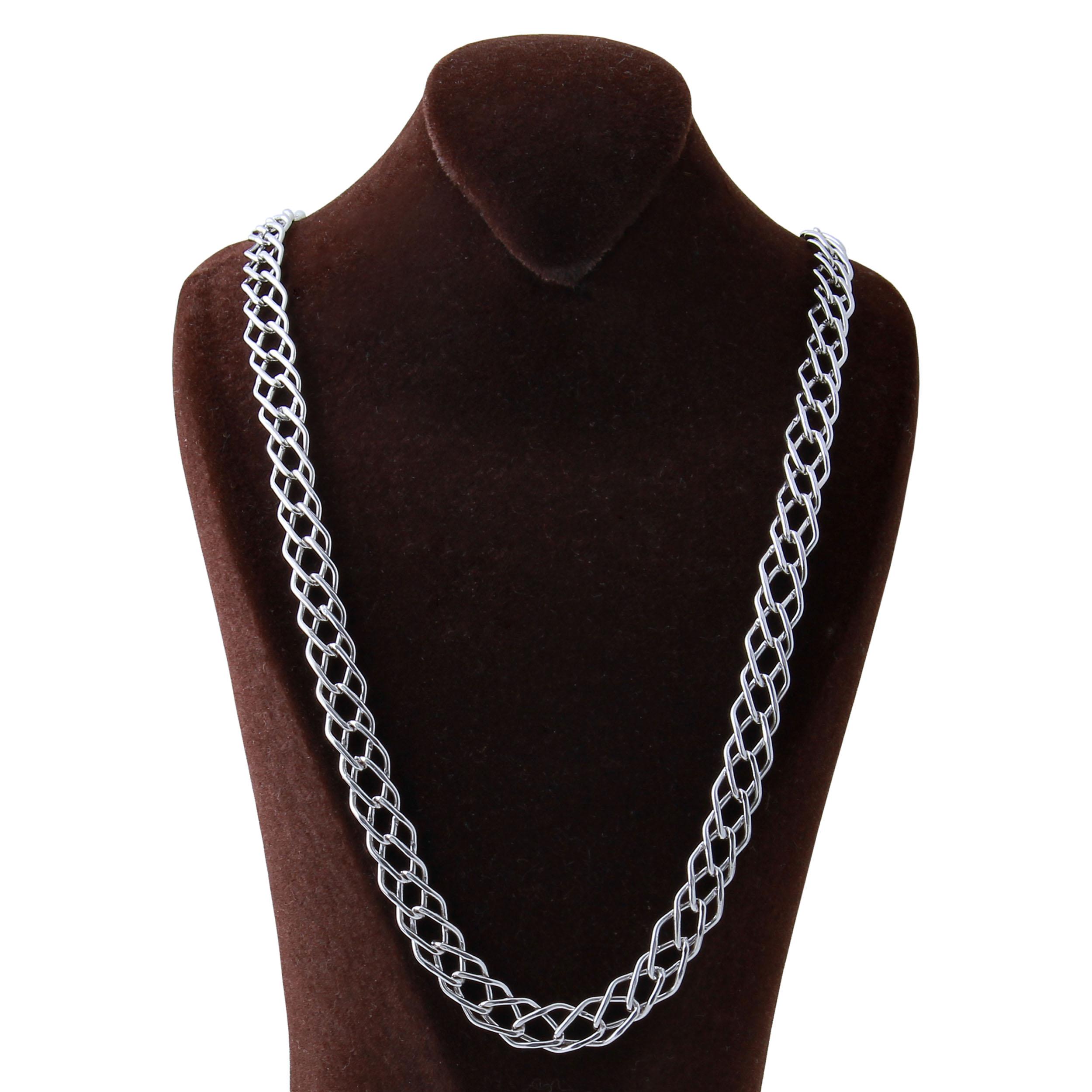 زنجیر نقره مردانه بازرگانی میلادی کد ZR_015