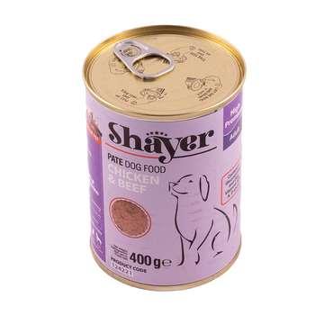 کنسرو غذای سگ شایر مدل Chicken&Beef وزن 400 گرم