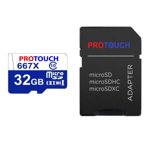 کارت حافظه microSDXC پروتاچ مدل ULTRA کلاس 10 استاندارد UHS-1 U3 سرعت 120MBps ظرفیت 32 گیگابایت به همراه آداپتور SD