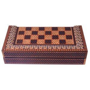 صفحه شطرنج خاتم کاری مدل ستونی کد 110
