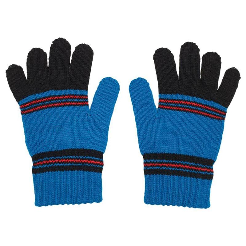 دستکش بافتنی بچگانه مدل B01 رنگ آبی