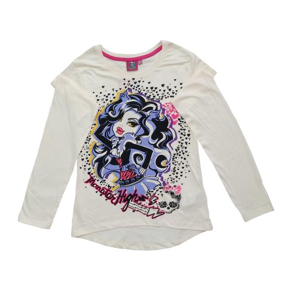 تی شرت آستین بلند دخترانه مانستر های مدل 11-18-95