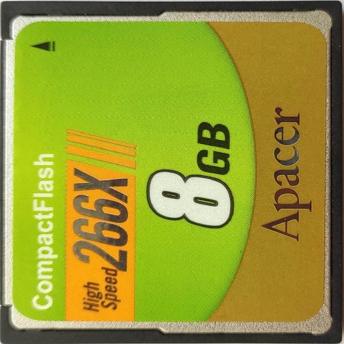 کارت حافظه CompactFlash اپیسر  مدل AP8G سرعت 266X ظرفیت 8 گیگابایت