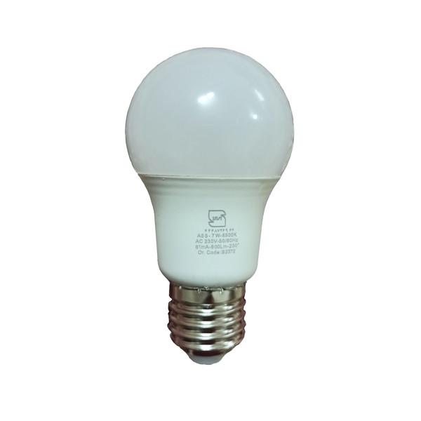 لامپ ال ای دی 7 وات بروکس پایه E27 کد 1