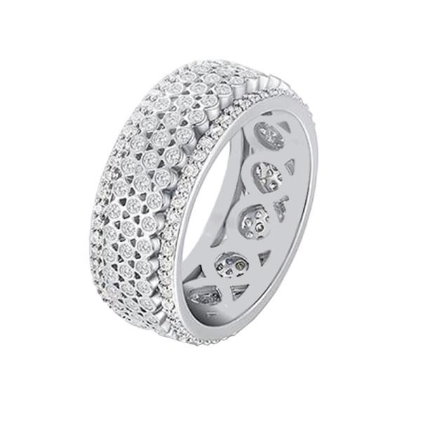 انگشتر نقره زنانه شهر جواهر مدل CR011