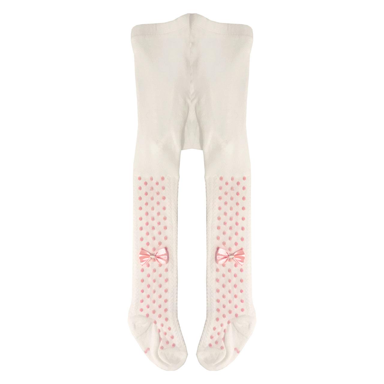 جوراب شلواری دخترانه مدل پاپیون کد 00502