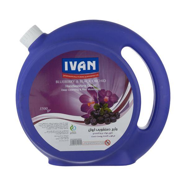 مایع دستشویی ایوان مدل Blueberry And Flower وزن 3.5 کیلوگرم