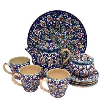 سرویس چایخوری میناکاری 9 پارچه کد 90