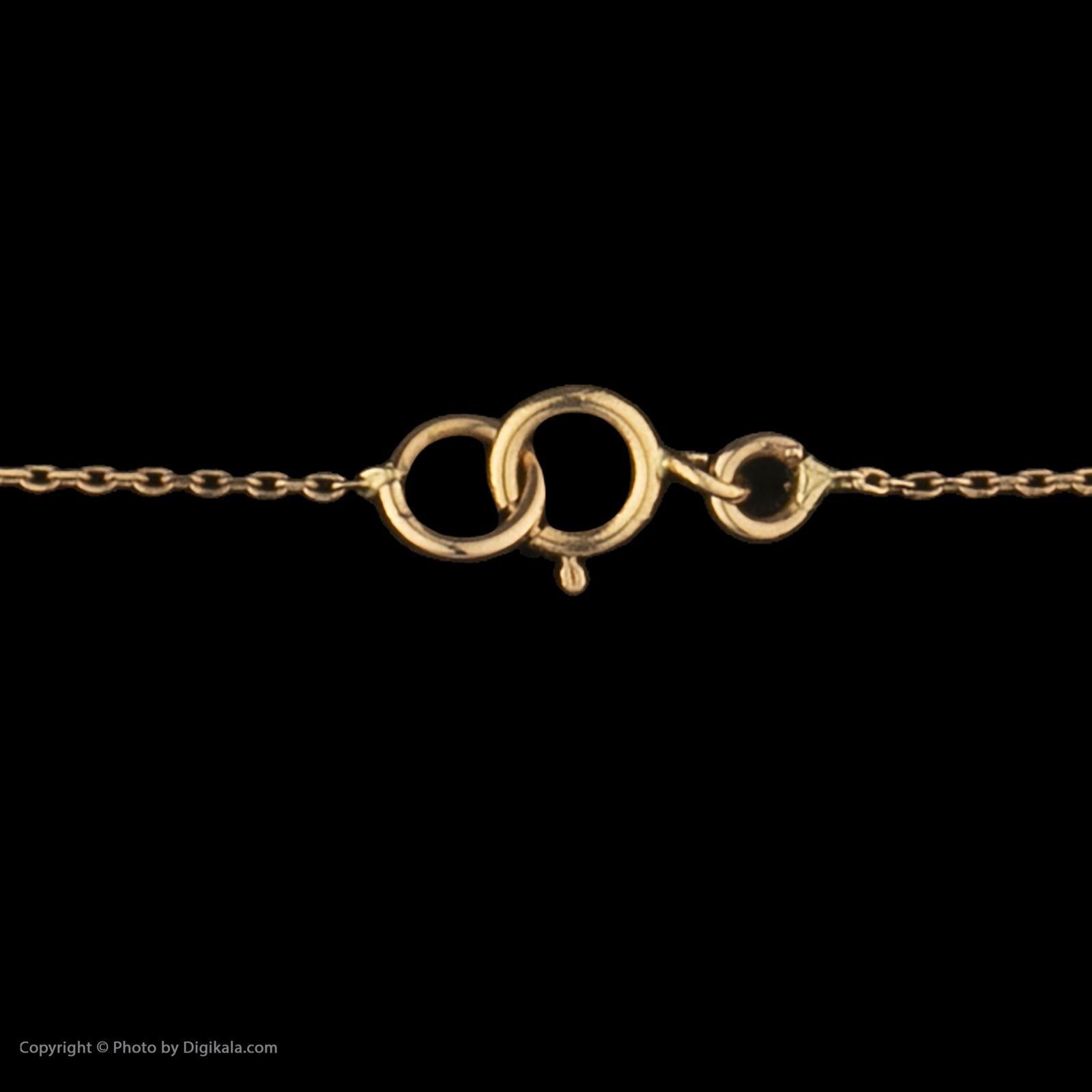 گردنبند طلا 18 عیار زنانه سنجاق مدل X077525 -  - 4