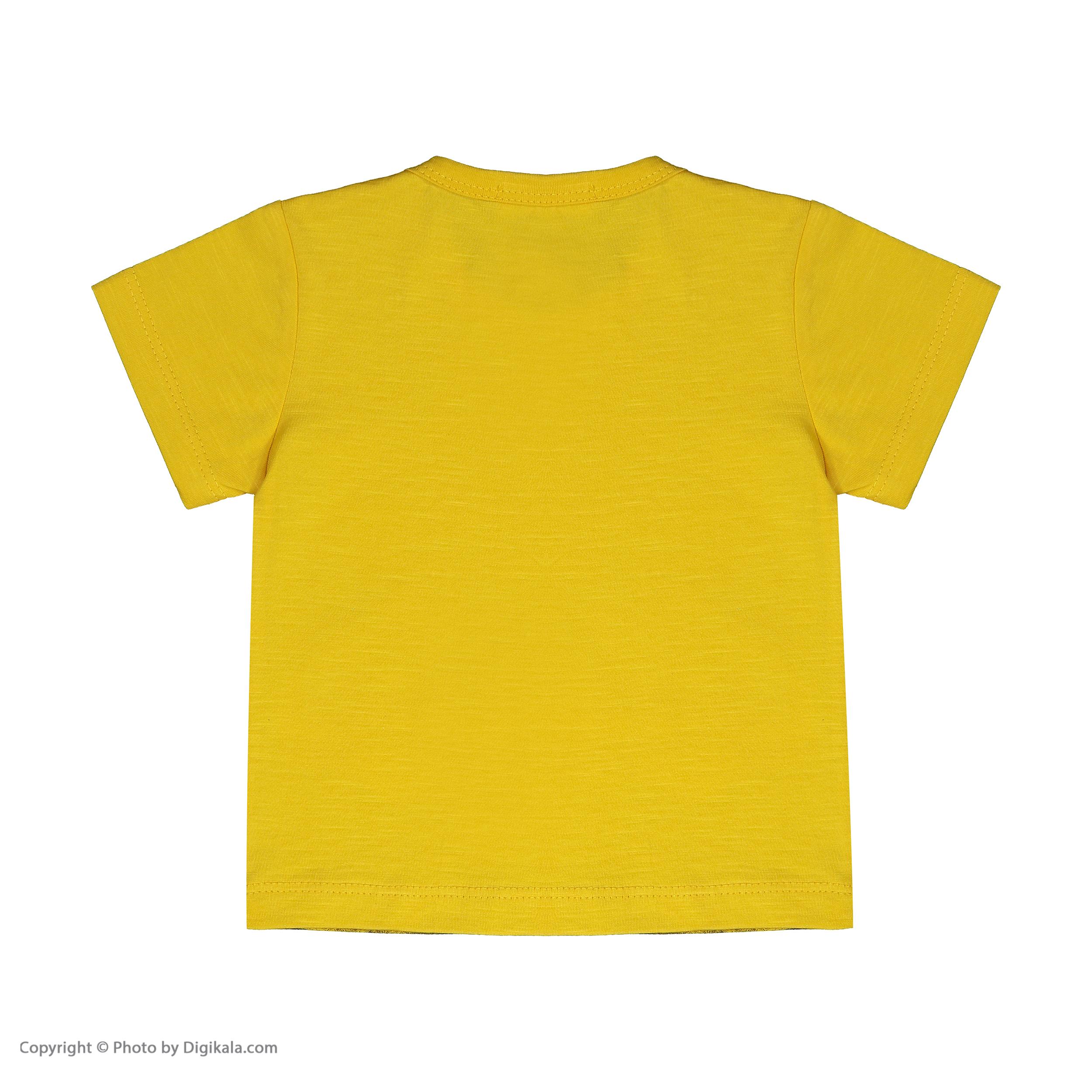 تی شرت نوزادی پسرانه بی کی مدل 2211118-16