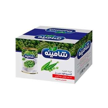 کنسرو نخود سبز شامینه - 350 گرم بسته 24 عددی