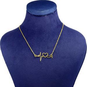 گردنبند طلا 18 عیار زنانه کانیار گالری طرح ضربان قلب مدل NE20
