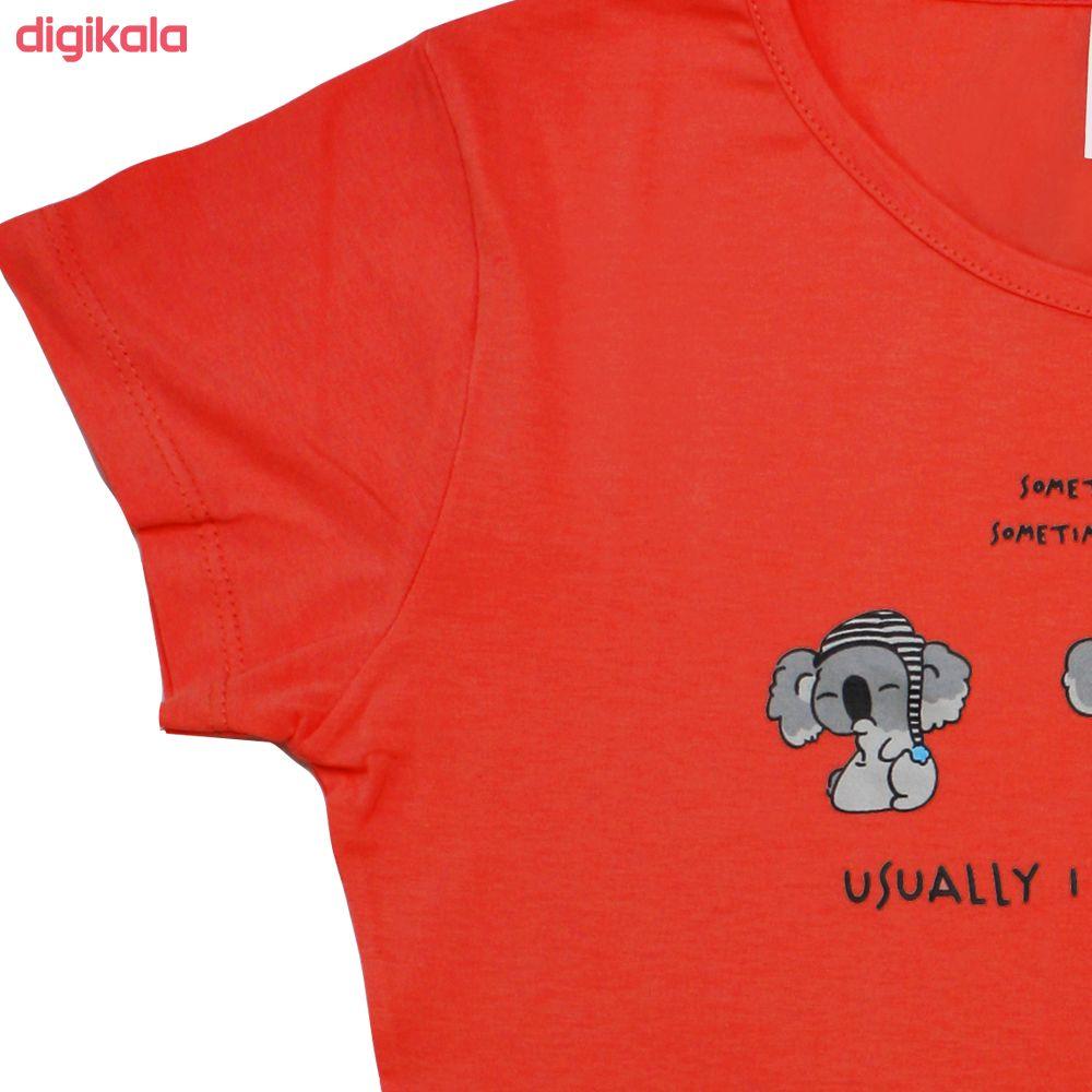 تی شرت زنانه کد Tsh6B main 1 2
