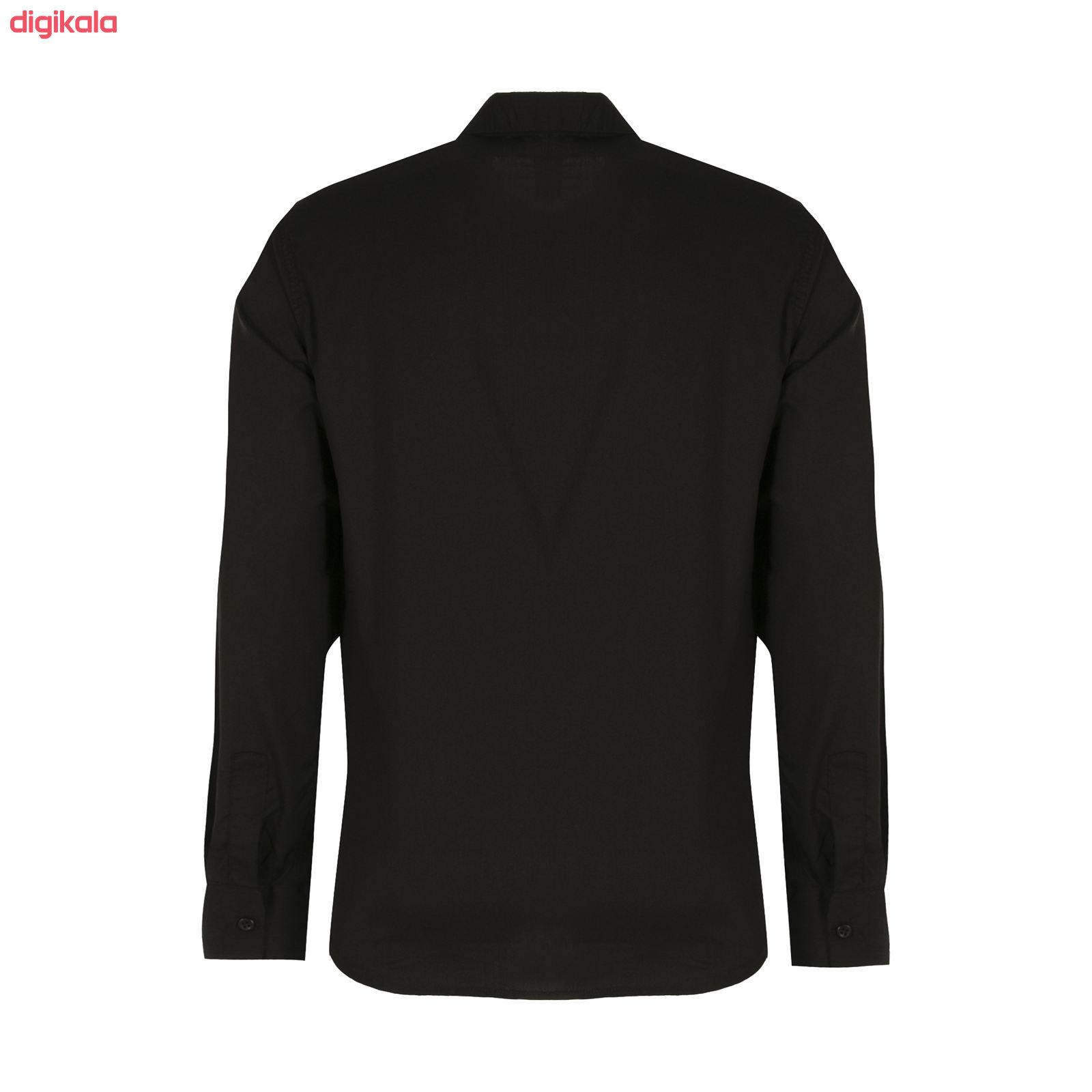 پیراهن آستین بلند مردانه کد PVLF BL-MIR-9906 رنگ مشکی main 1 2
