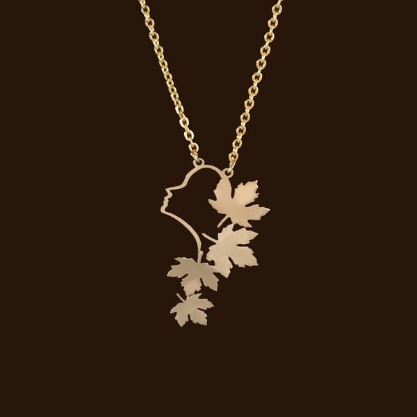 گردنبند طلا 18 عیار زنانه آمانژ کد D9781