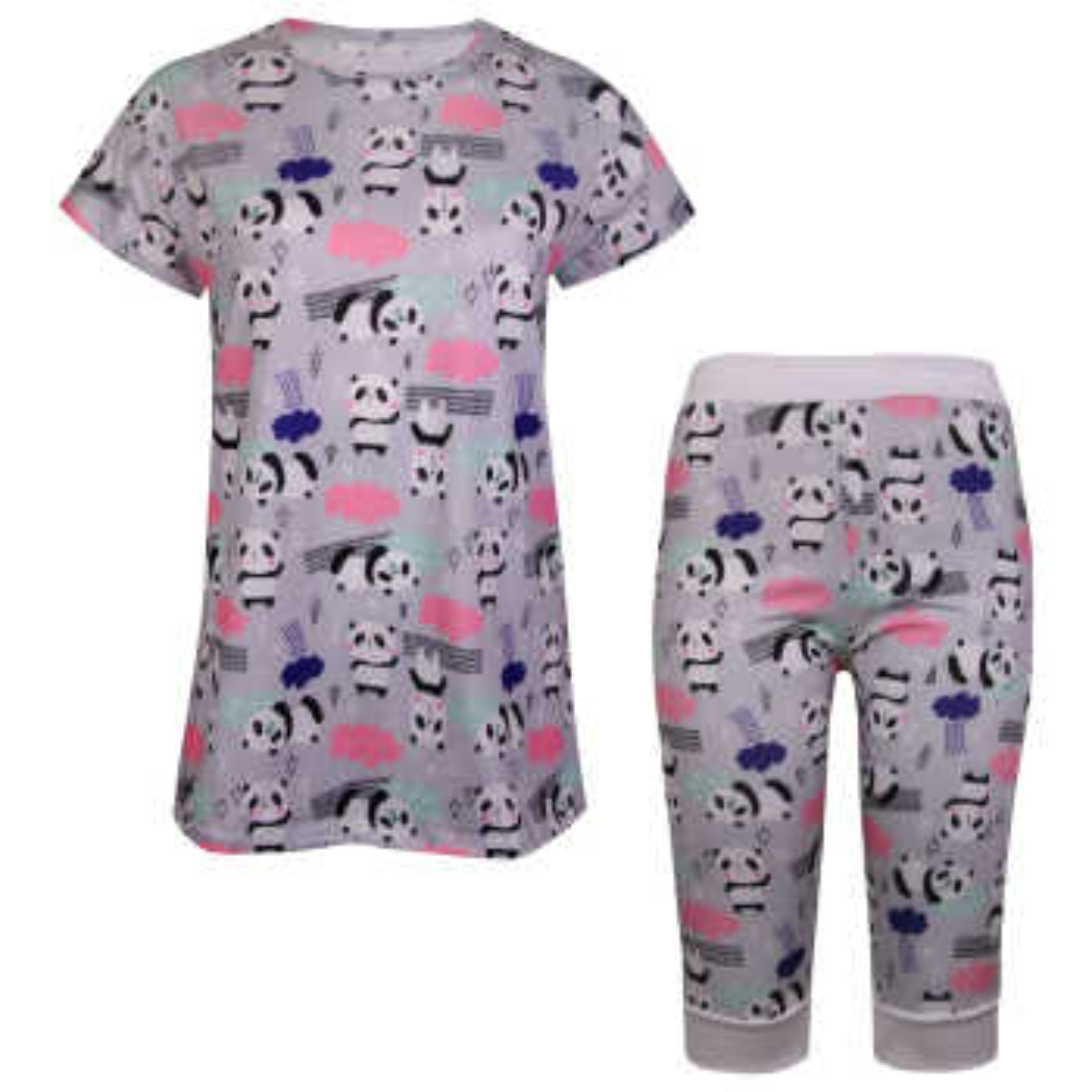 ست تی شرت و شلوارک زنانه ماییلدا مدل 3586-1