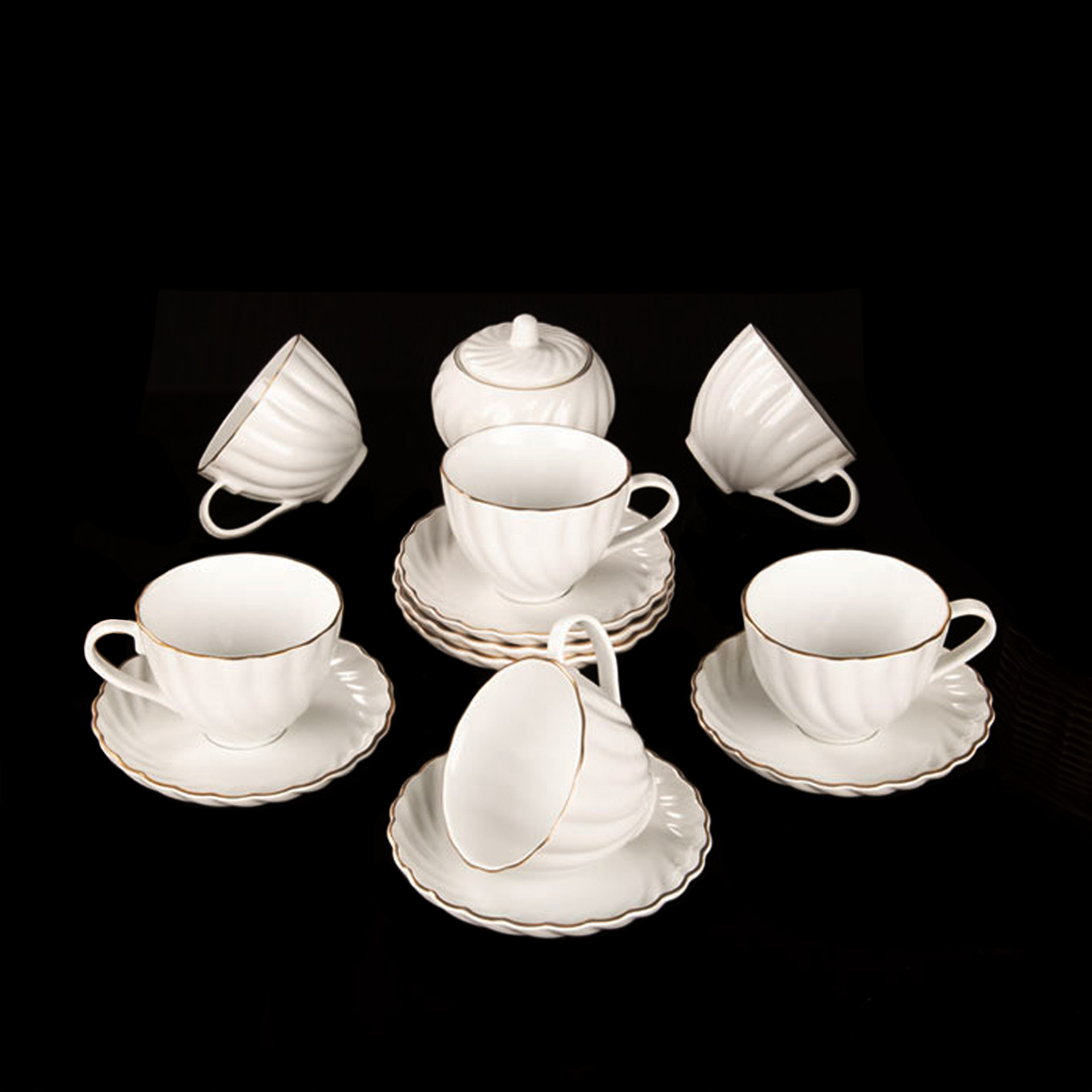 سرویس چای خوری 14 پارچه لمونژ مدل کارمن کد 504
