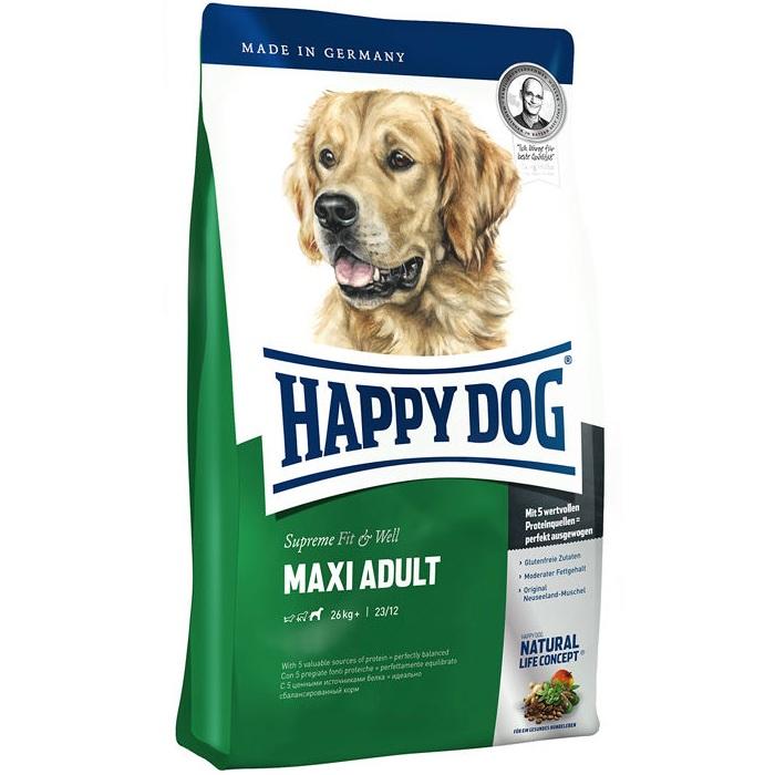 غذای خشک سگ هپی داگ مدل Maxi کد 010 وزن 1 کیلوگرم