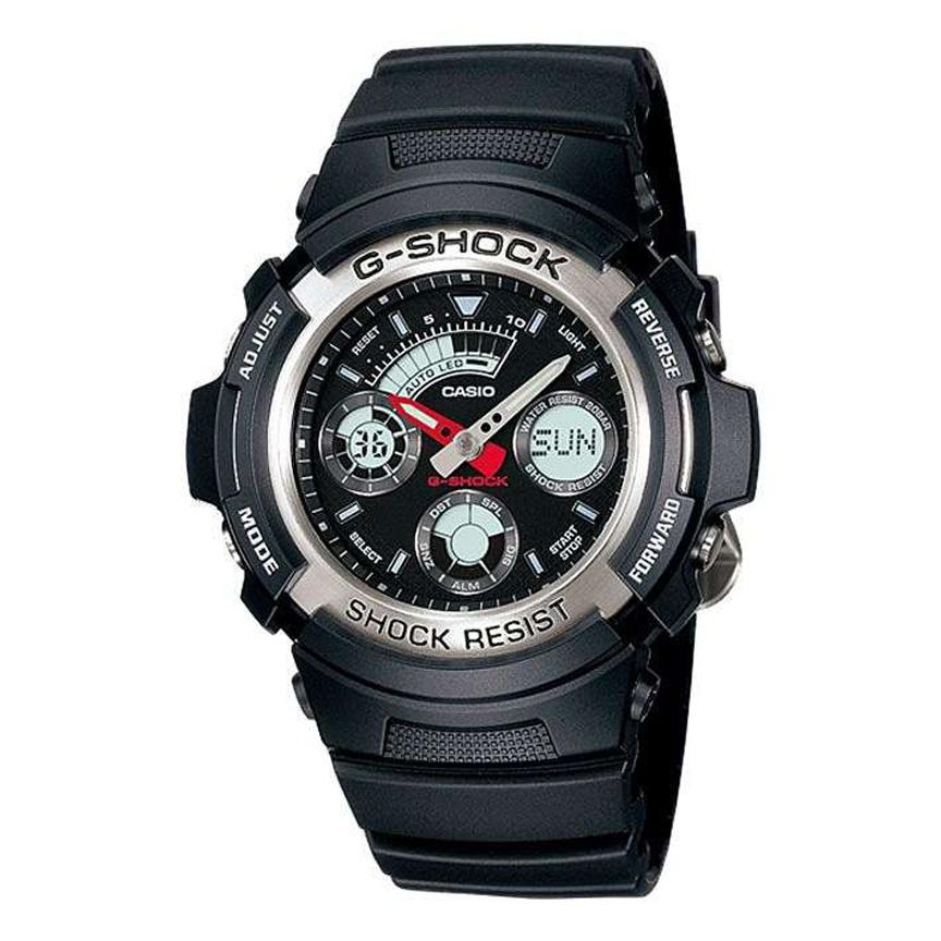 ساعت مچی عقربه ای مردانه کاسیو مدل جی شاک کد AW-590-1A              👙