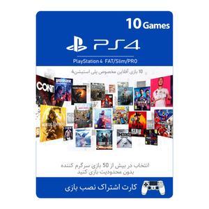 کارت اشتراک نصب 6 بازی مخصوص پلی استیشن 4