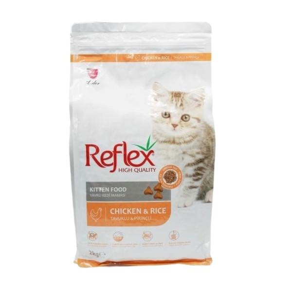 غذای خشک بچه گربه رفلکس مدل مرغ و برنج وزن 2 کیلوگرم