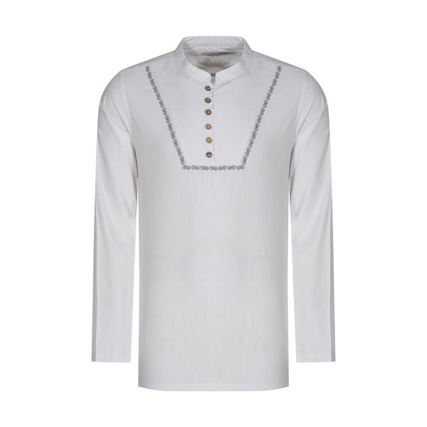 پیراهن مردانه تن درست مدل 108-WHITE