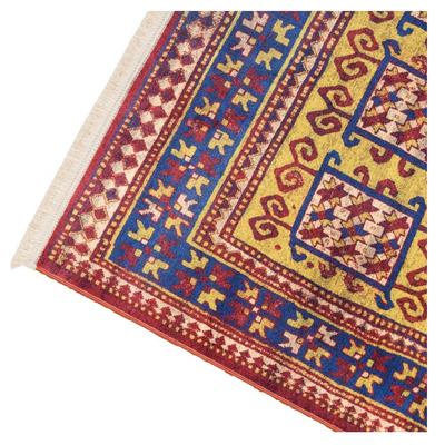 فرش ماشینی طرح گبه کد 100309 زمینه لاکی