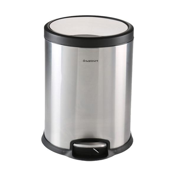 سطل زباله سام ست مدل V طرح  استوانه ای کد 45136 ظرفیت 12 لیتری