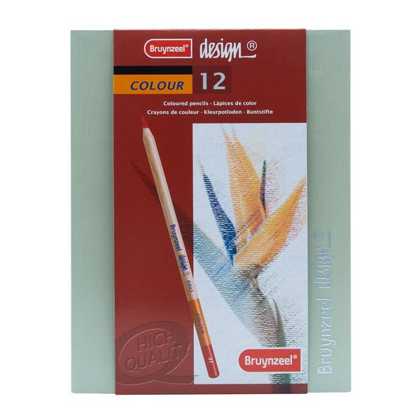 مداد رنگی 12 رنگ برونزیل مدل دیزاین