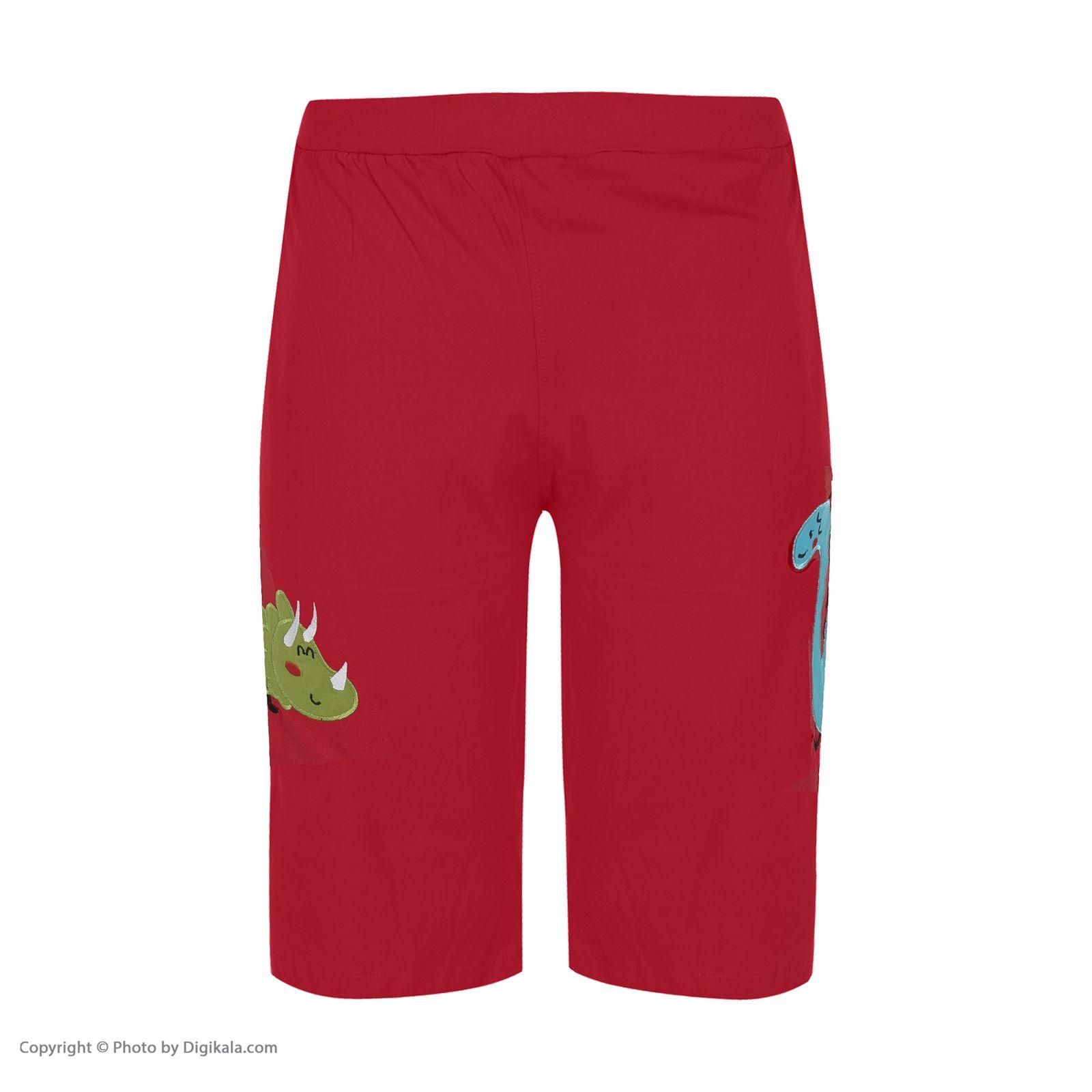 ست تی شرت و شلوارک راحتی مردانه مادر مدل 2041110-74 -  - 9