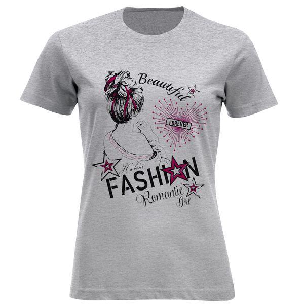 تی شرت آستین کوتاه زنانه مدل دختر F821