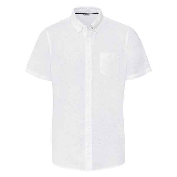 پیراهن آستین کوتاه مردانه لیورجی مدل p339469 رنگ سفید