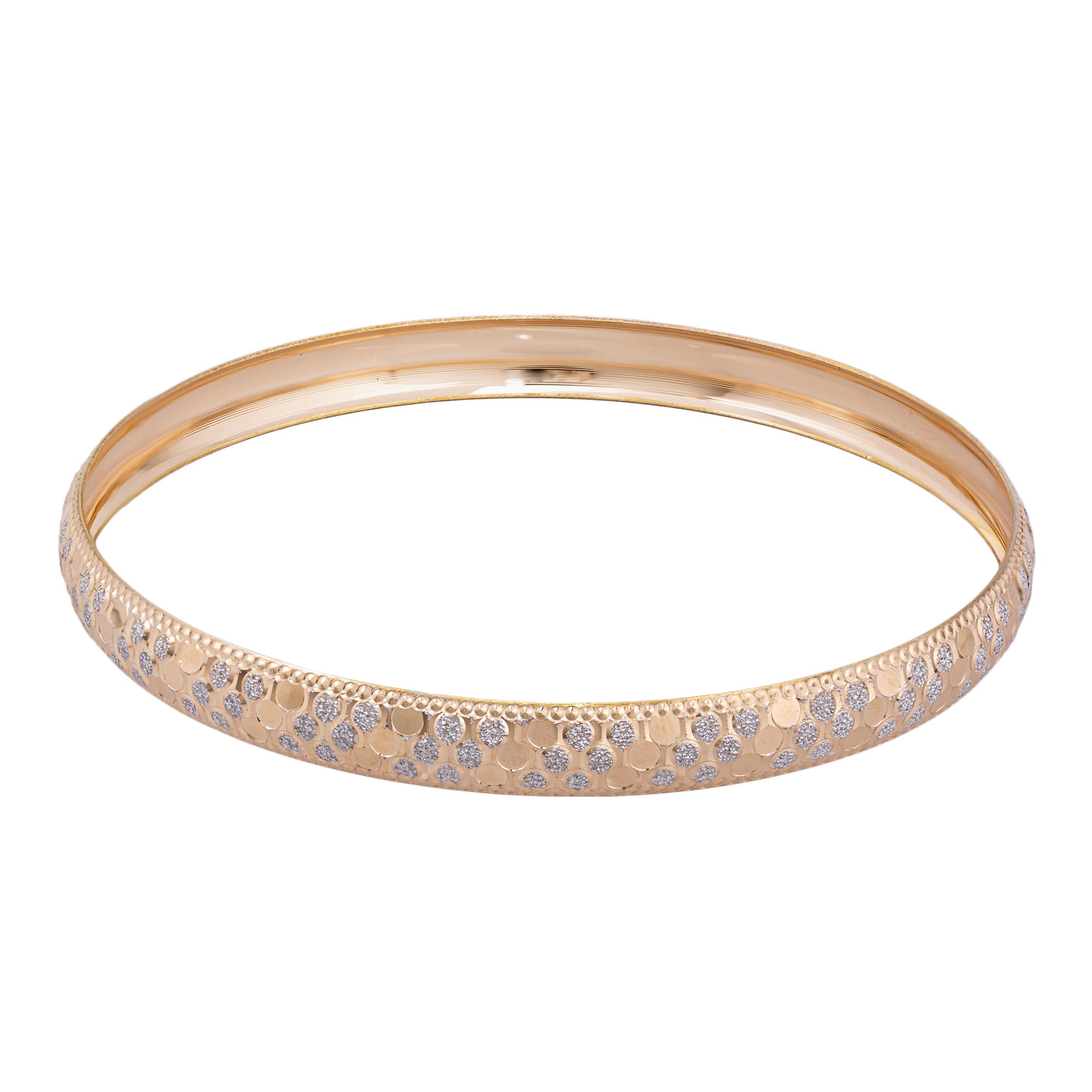 النگو طلا 18 عیار زنانه گالری یارطلا کد AL16-W-4