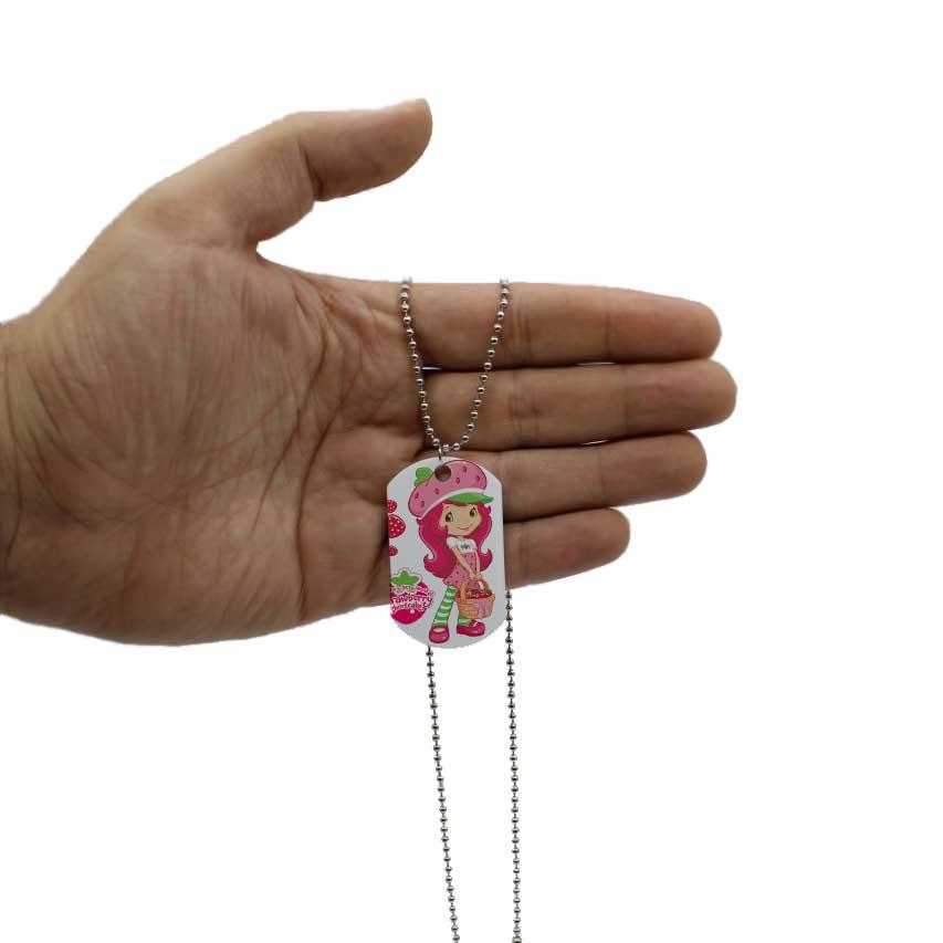 گردنبند دخترانه طرح دختر توت فرنگی کد wap572