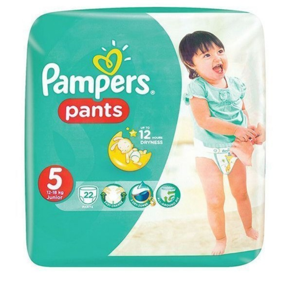پوشک کودک پمپرز مدل pants سایز 5 بسته 22 عددی