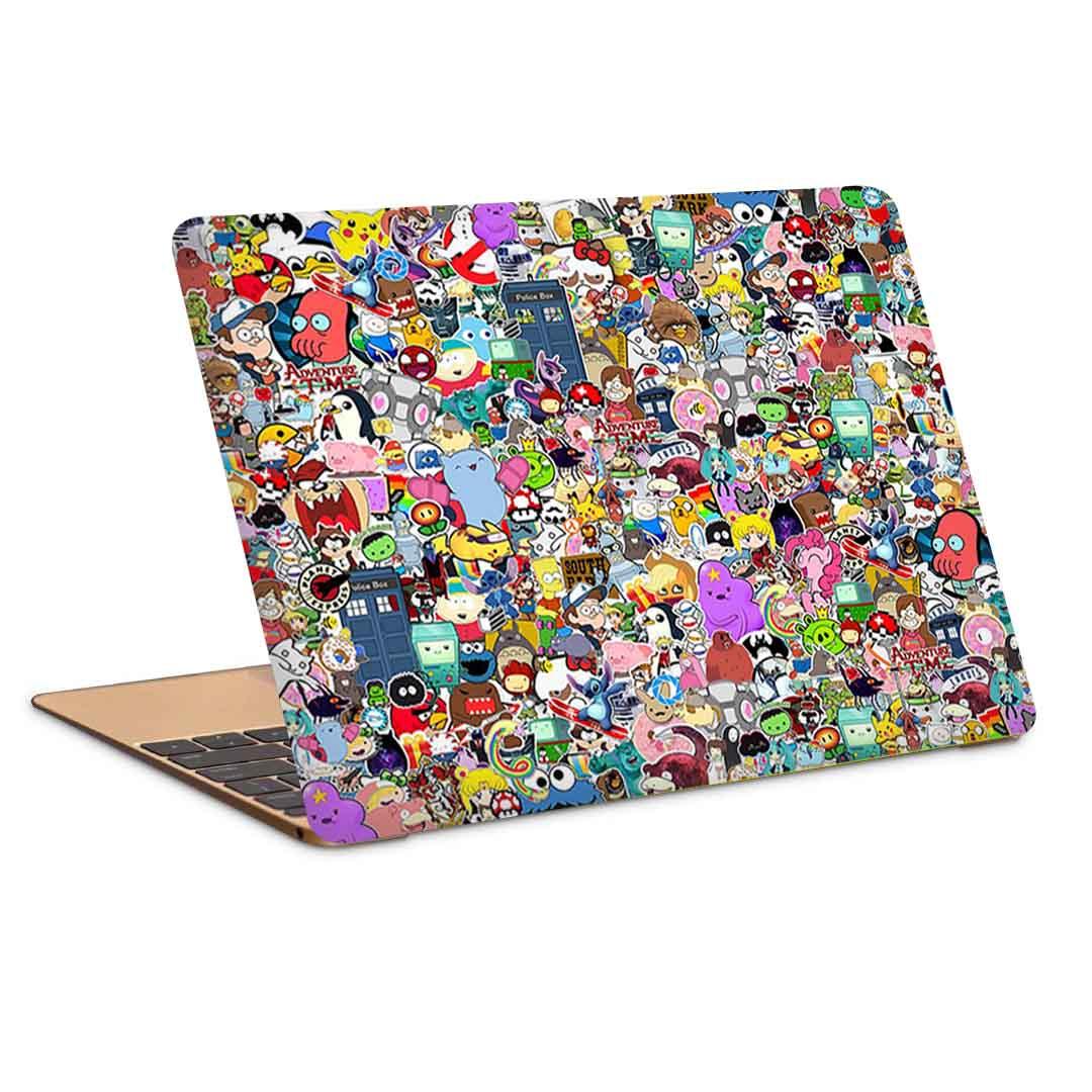 بررسی و {خرید با تخفیف}                                     استیکر لپ تاپ طرح grafitti pattern کد c-343مناسب برای لپ تاپ 15.6 اینچ                             اصل