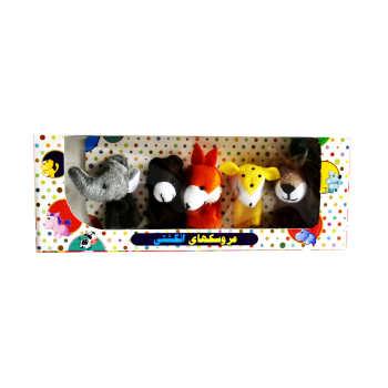 عروسک انگشتی طرح حیوانات جنگل مجموعه ۵ عددی
