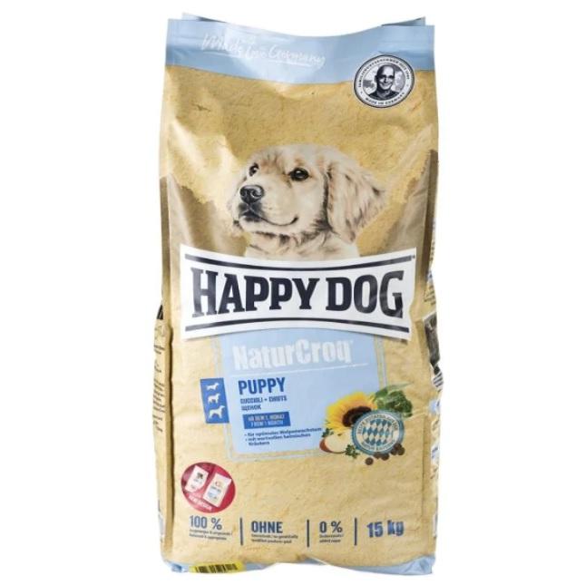 غذای خشک توله سگ هپی داگ مدل NaturCroq کد 01 وزن 15 کیلوگرم