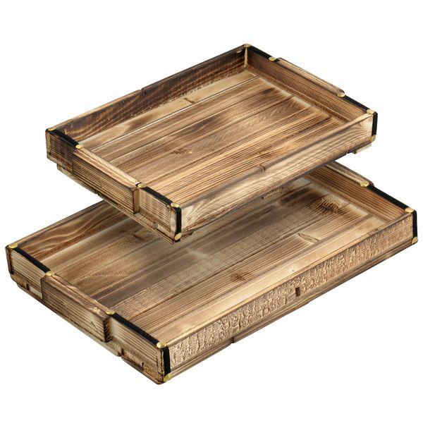 سینی مدل چوبی مجموعه 2 عددی