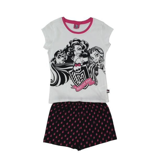 ست تی شرت و شلوارک دخترانه مانستر های مدل 11-6-112