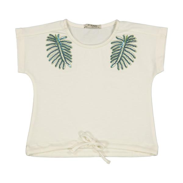 تی شرت دخترانه پیانو مدل 1882-05