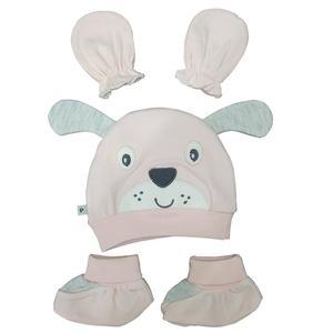 ست کلاه و پاپوش و دستکش نوزادی پاپو مدل po25435