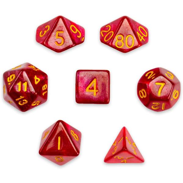تاس بازی ویز دایس مدل Glitter بسته 7 عددی