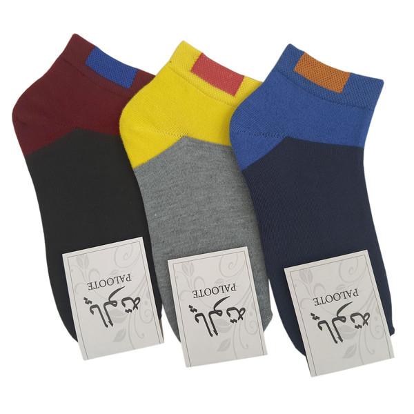 جوراب مردانه پالوته مدل PM-NNN مجموعه سه عددی